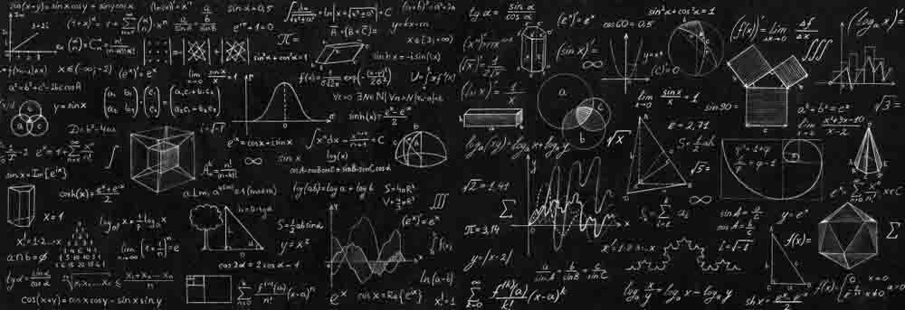 blackboard covered in physics calculations